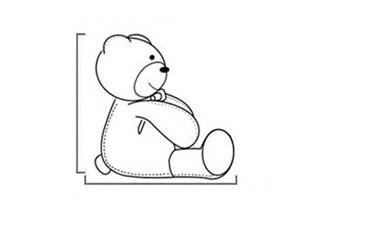从整体来说乐乐熊样子憨厚可爱